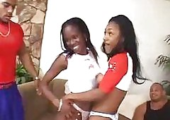 free ebony threesome porn